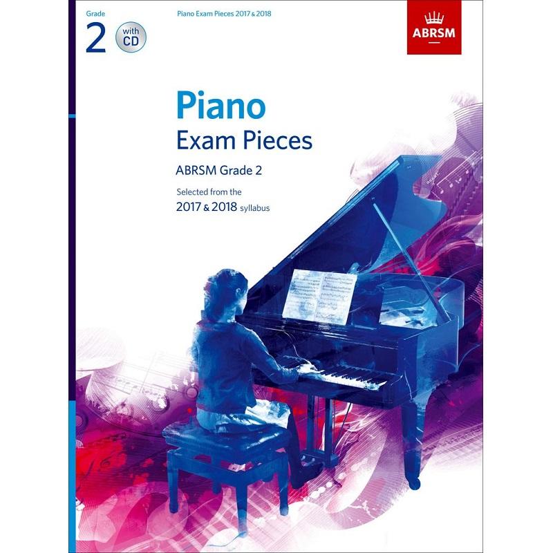 ABRSM Piano Exam Pcs 2017-2018 G2 w/ CD