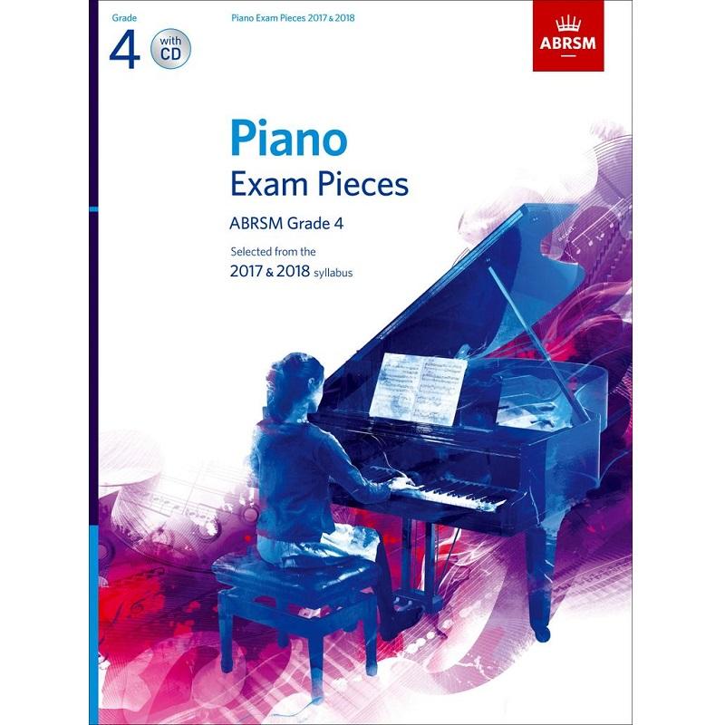 ABRSM Piano Exam Pcs 2017-2018 G4 w/ CD