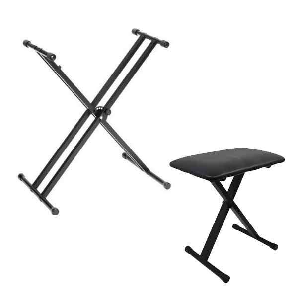 Piano/Keyboard X-Stand & X-Bench Bundle