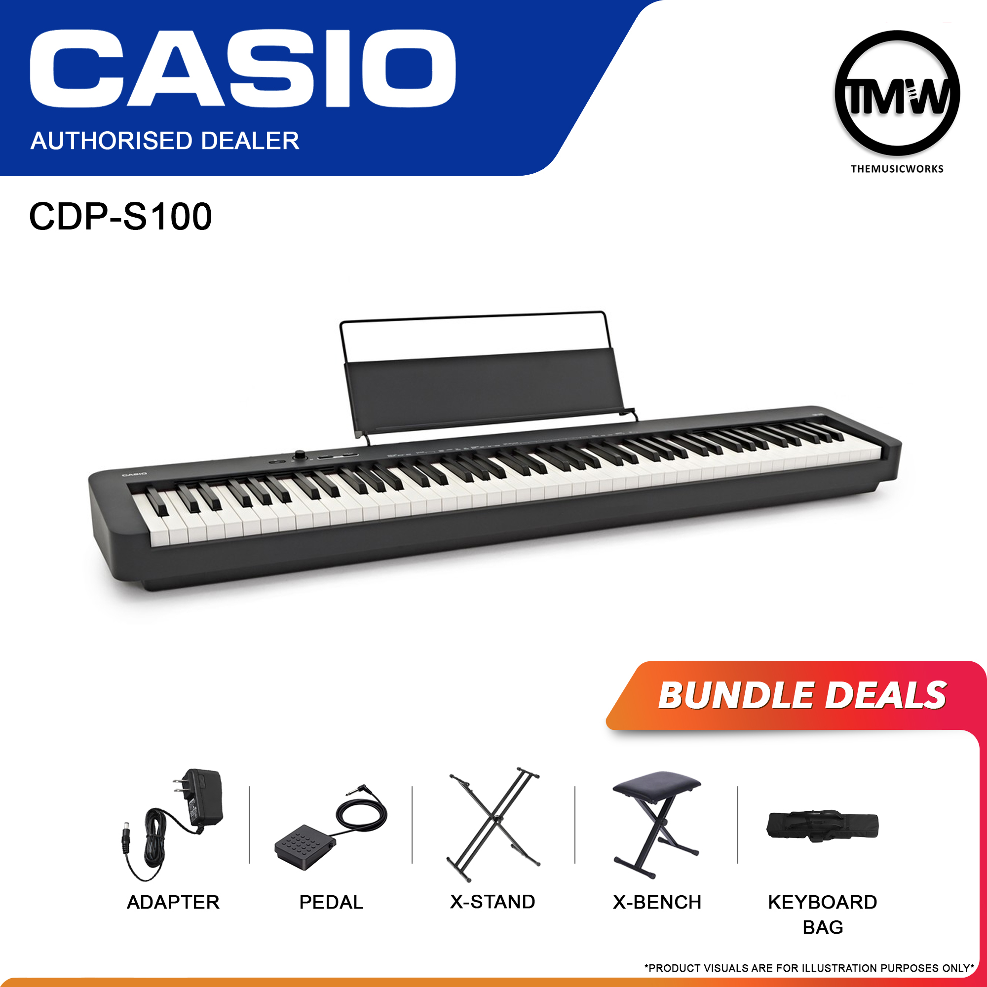 casio cdp-s100 bundle deals