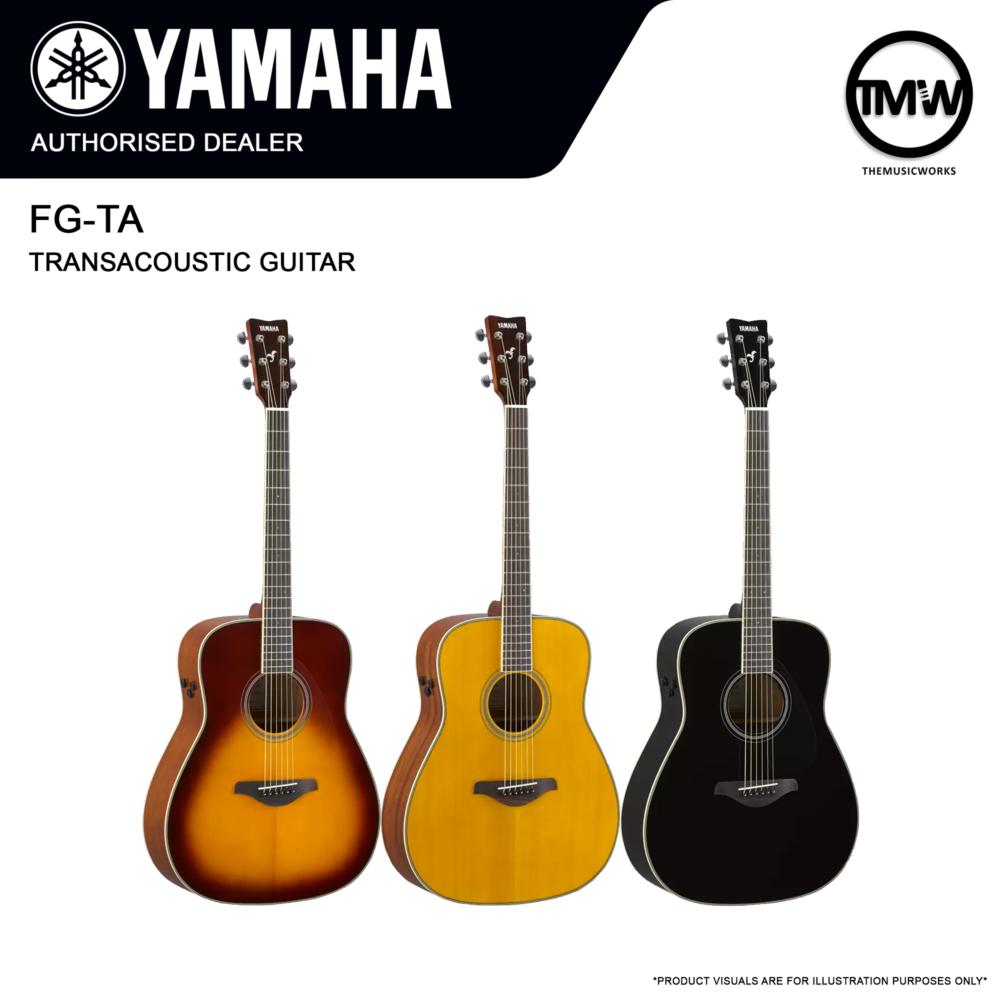 yamaha fg-ta transacoustic guitar