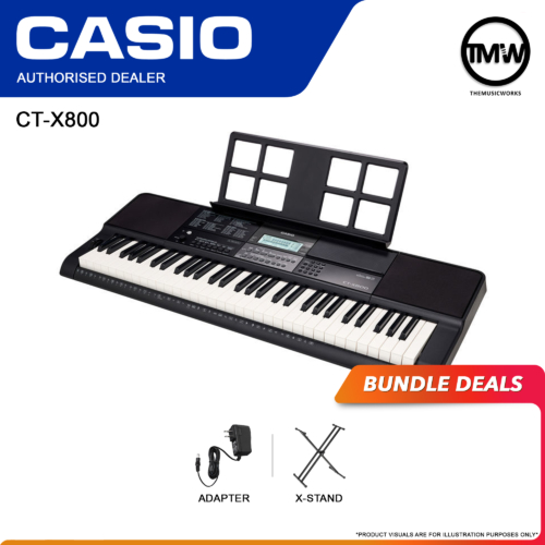 Casio CT-X800 Keyboard with Adapter, and X-Stand