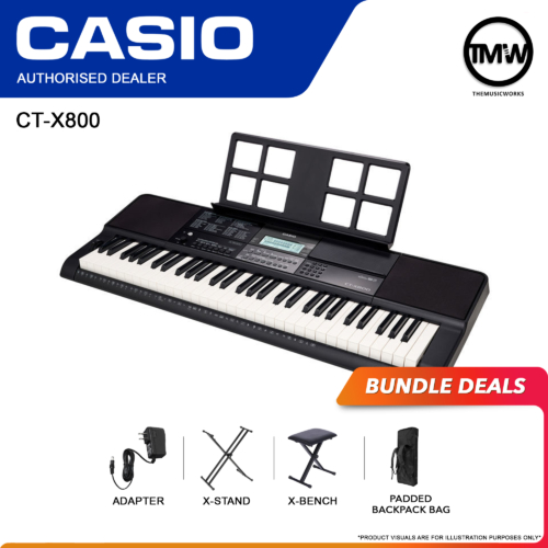 Casio CT-X800 Keyboard with Adapter, X-Stand, X-Bench, and Bag