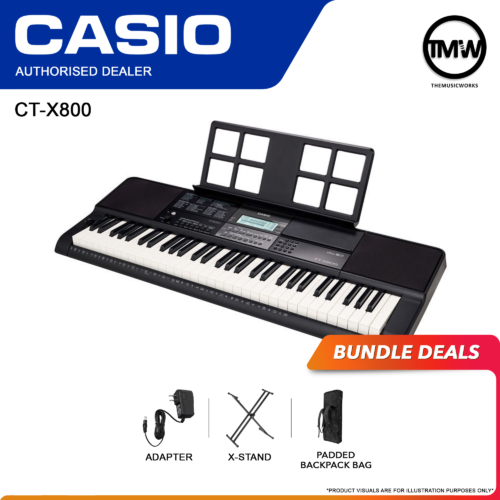 Casio CT-X800 Keyboard with Adapter, X-Stand, and Bag