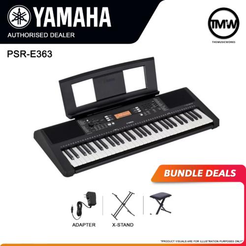 yamaha psr-e363 bundle deals