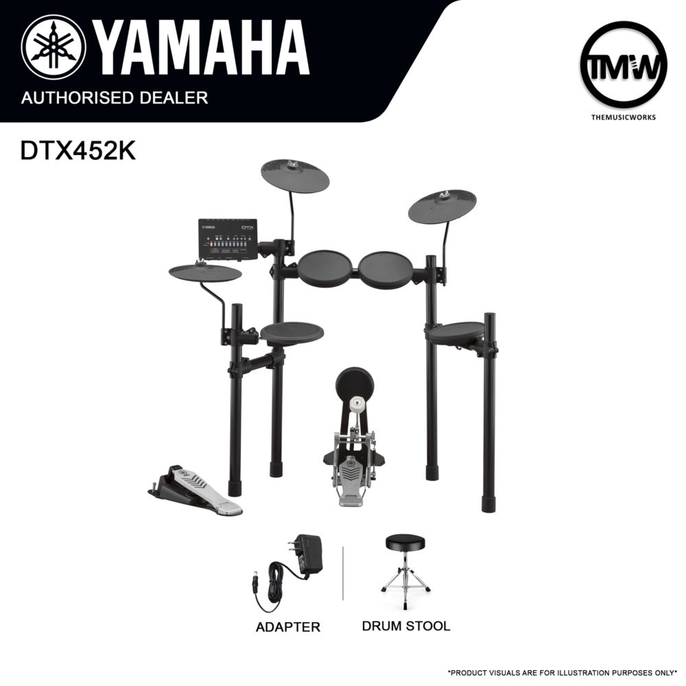 DTX452K with Drum Stool and Adapter