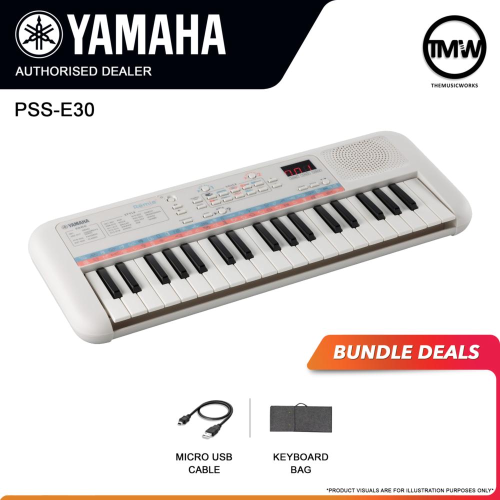 yamaha pss-e30 mini keyboard with usb cable and bag