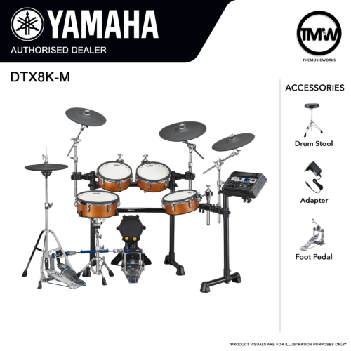 yamaha dtx8k-m electronic drum set